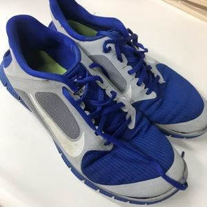 Nike Free 4.0 Shoes Blue and Grey Mens size 10.5